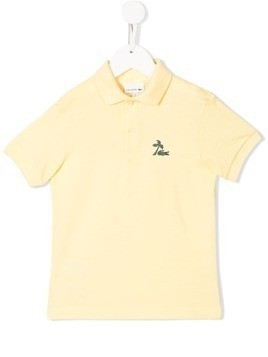Lacoste Kids palm tree polo top - Yellow