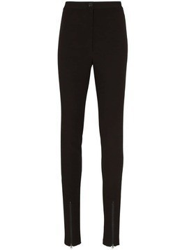 Low Classic zip-cuff skinny trousers - Black