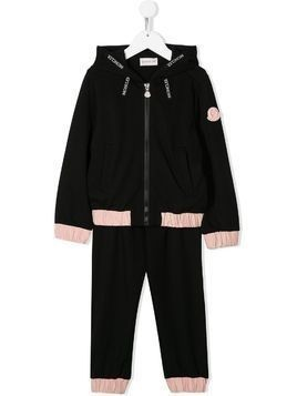 Moncler Kids hooded two-tone tracksuit - Black