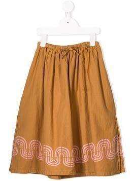 Bobo Choses printed hem skirt - Brown