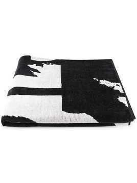 Diesel BMT-Helleri large beach towel - Black