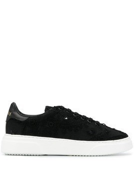 By Walid two tone low top sneakers - Black
