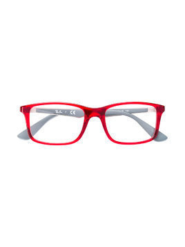 Ray Ban Junior rectangular glasses - Red