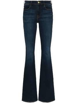 Frame Le High mid-rise flared jeans - Blue
