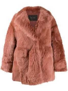 Blancha shearling short jacket - Pink