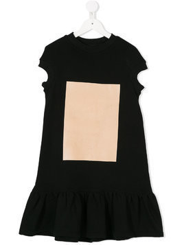 Ioana Ciolacu Kids pleated skirt T-shirt dress - Black