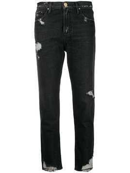 Don't Cry distressed jeans - Grey