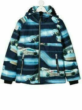 Molo car print hooded jacket - Blue
