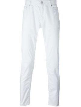 Michael Kors Collection slim fit trousers - White