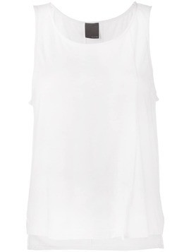 Lot78 Cashmere Side Split Sleeveless Top - White