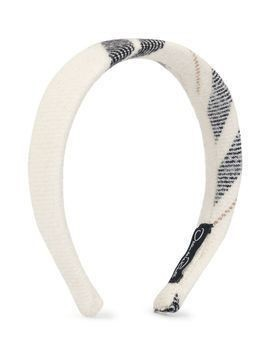 Oscar De La Renta Kids check pattern headband - White