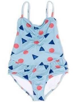 Bobo Choses geometric print swimsuit - Blue