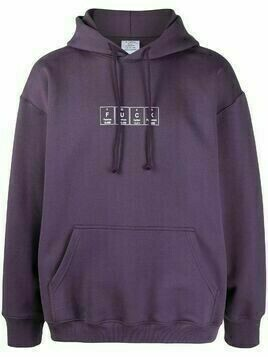 Vetements graphic-print hoodie - PURPLE