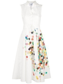 Akris Punto square print dress - White