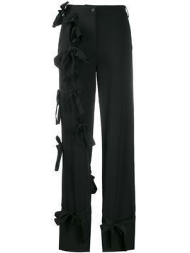Brognano bow detail trousers - Black