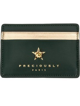 Preciously star embellished cardholder - Green