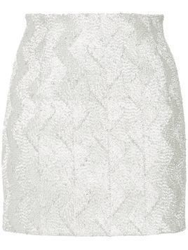 Manning Cartell No Filter mini skirt - Metallic