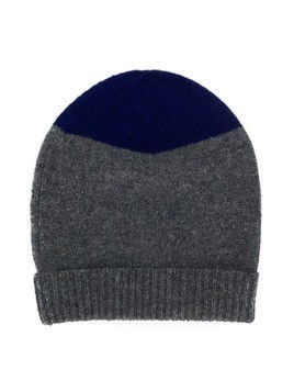 Marni Kids two tone knitted beanie - Grey