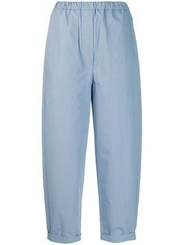 Tela poplin cropped trousers - Blue
