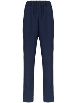 Marni elasticated-waist slim trousers - Blue