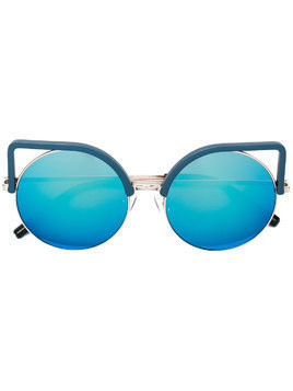 Matthew Williamson Matthew Williamson x Linda Farrow cat-eye sunglasses - Blue