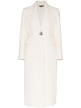 Blindness single-breasted coat - White