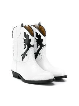 Gallucci Kids western ankle boots - White