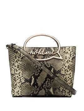 Sophia Webster Hold Me snakeskin-effect bag - Brown