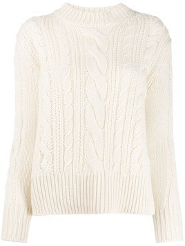 Agnona cable knit jumper - White