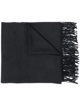 Emporio Armani all-over logo scarf - Black