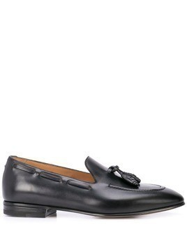 Francesco Russo tassel loafers - Black