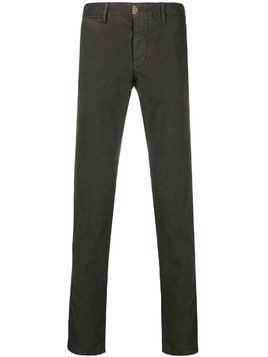 Incotex straight-leg chino trousers - Brown