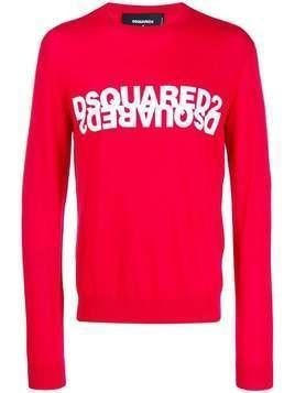 Dsquared2 double logo intarsia jumper
