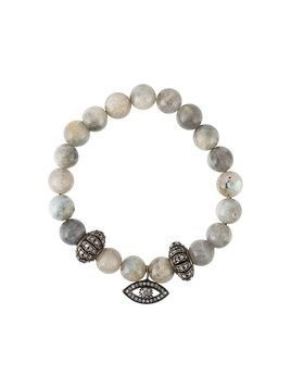 Gemco bead diamond charm bracelet - Grey