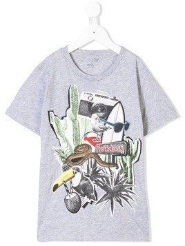 Stella McCartney Kids holiday print T-shirt - Grey