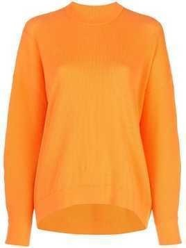 Tibi sculpted sleeve jumper - Orange