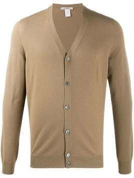 La Fileria For D'aniello V-neck relaxed-fit cardigan - Brown