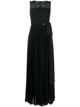 LIU JO sheer pleated evening gown - Black