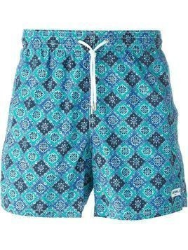 Canali printed swim shorts - Green