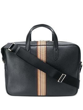 Paul Smith stripe detail briefcase - Black