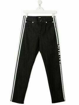 Balmain Kids logo print trousers - Black
