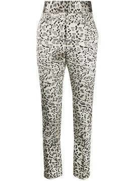 Haider Ackermann geometric print straight leg trousers - NEUTRALS