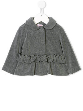 Il Gufo ruffle-trimmed jacket - Grey