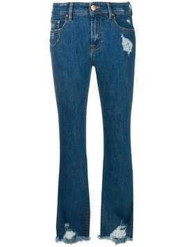 Don't Cry frayed bootcut jeans - Blue