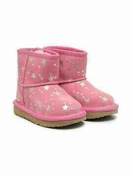 UGG Kids star-print slip-on ankle boots - PINK