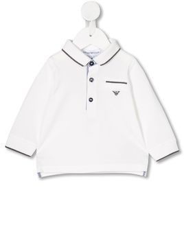 Armani long-sleeved polo shirt - White