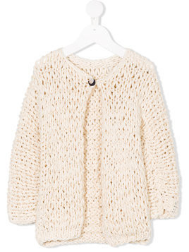 Manoko knitted buttoned cardigan - Neutrals
