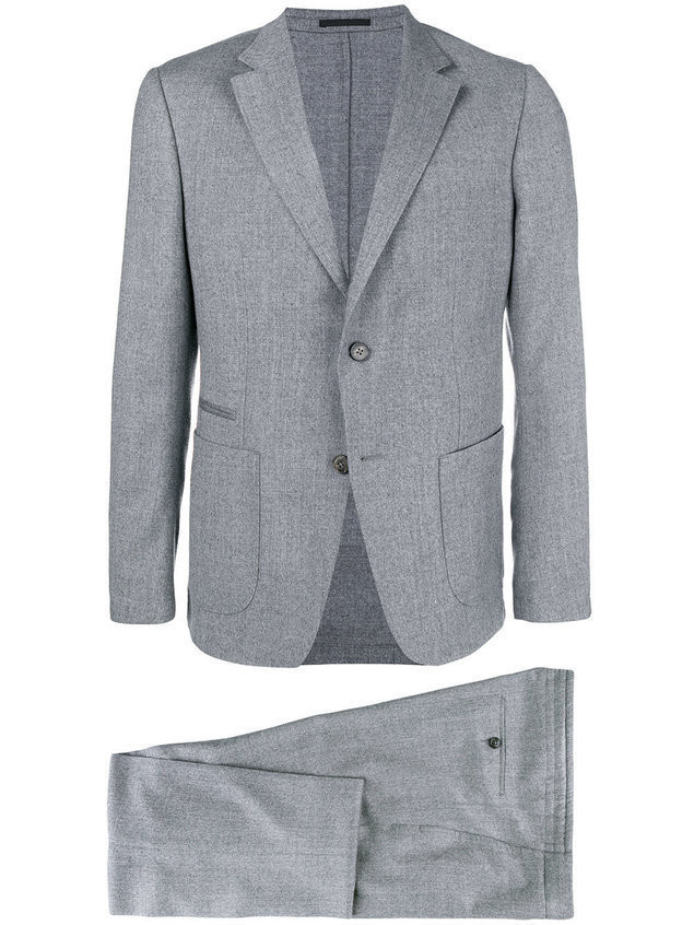 Z Zegna two piece slim-fit suit - Grey