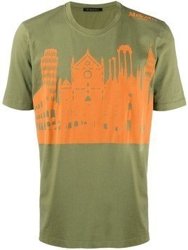 Mr & Mrs Italy landmark print T-shirt - Green