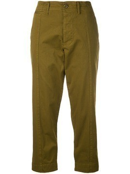 Alex Mill straight cropped trousers - Green